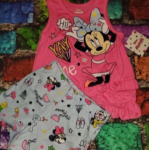 Nwt Disney Minnie Mouse Outfit Set 2t